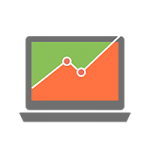 Graph on screen icon